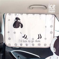 Защитная шторка в для автомобиля, белая. Овечка.