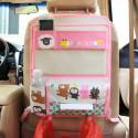 Органайзер для автомобиля с откидным столиком, розовый. Веселые зверята.