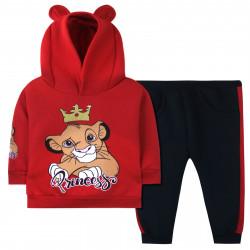 Утепленный костюм для девочки, красный. Львенок - принцесса.