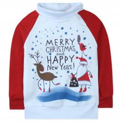 Гольф детский, водолазка, белая. Счастливого Рождества.