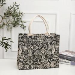 Сумка-шоппер, шоппер, сумка, экосумка, черная. Индийский узор.