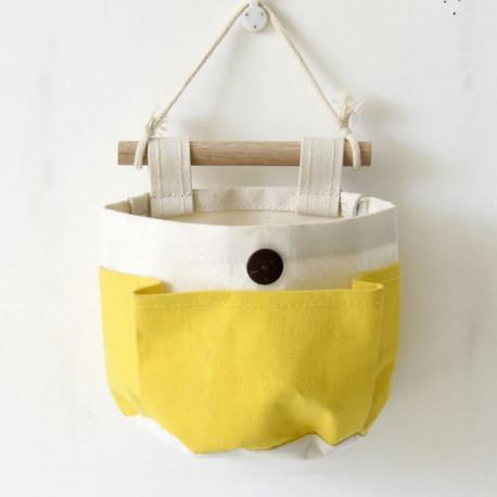 Подвесной органайзер с карманом, белый. Лимонный. ( 1 карман )