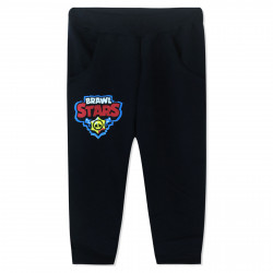 Утепленные штаны для мальчика, черные. Brawl stars.