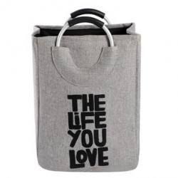 Корзина-сумка для игрушек, серая. The life you love.