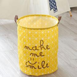 Корзина для белья и игрушек, желтая. Улыбка.
