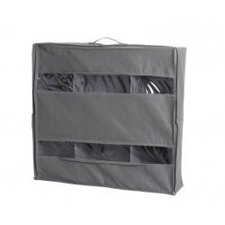 Сумка с отсеками, органайзер для хранения вещей. Серый. 58*55*13 см.
