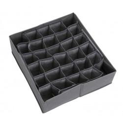 Органайзер для белья и носков, серый. 30 ячеек. 34*32*10 см.