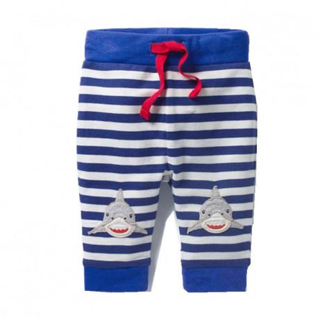Штаны для мальчика, синие. Тигровые акулы.