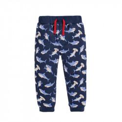 Штаны для мальчика, темно-синие. Семья акул.