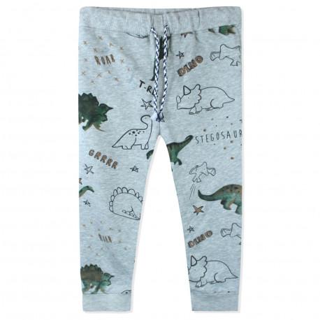 Штаны для мальчика, серые. Динозаврики.