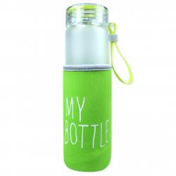 Чехол на бутылку, термос, зеленый. My bottle.