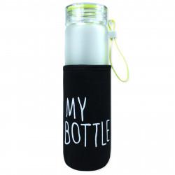 Чехол на бутылку и на термос, черный. My bottle.