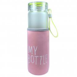 Чехол на бутылку и на термос, розовый. My bottle.