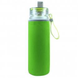 Чехол на бутылку и на термос, зеленый. Однотонный.