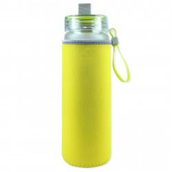 Чехол на бутылку и на термос, желтый. Однотонный.