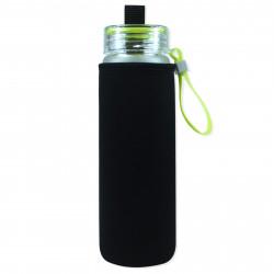 Чехол на бутылку и на термос, черный. Однотонный.