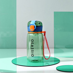 Бутылка с ситечком пластиковая, зеленая. Classical. 400 мл.