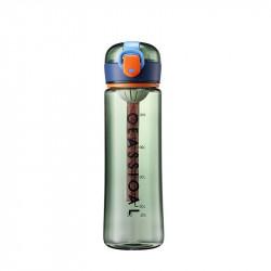 Бутылка с ситечком пластиковая, зеленая. Classical Big. 500 мл.