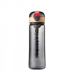 Бутылка с ситечком пластиковая, серая. Classical Big. 500 мл.