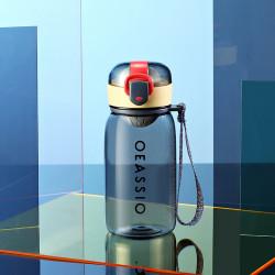 Бутылка с ситечком пластиковая, серая. Classical. 400 мл.