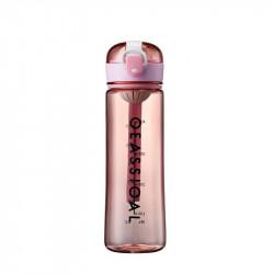 Бутылка с ситечком пластиковая, розовая. Classical Big. 500 мл.