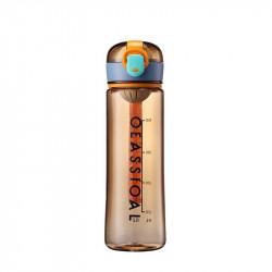 Бутылка с ситечком пластиковая, оранжевая. Classical Big. 500 мл.