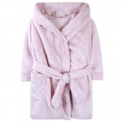 Халат махровый детский, банный, розовый. Блесточка.