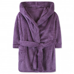 Халат махровый детский, банный, фиолетовый. Блесточка.