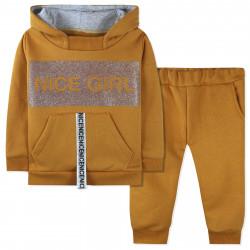 Утепленный костюм 2 в 1 для девочки, желтый. Nice Girl.