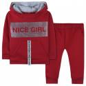 Утепленный костюм 2 в 1 для девочки, красный. Nice Girl.