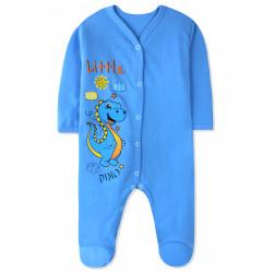 Человечек с начесом детский, комбинезон, синий. Маленький дракон.