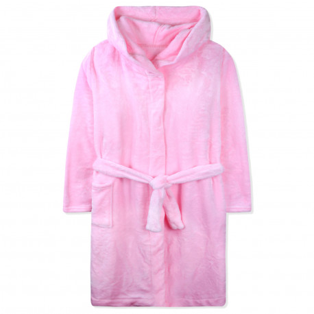 Халат махровый, розовый. Однотонный.