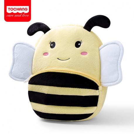 Велюровый рюкзак, желтый. Пчелка