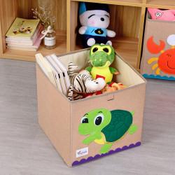 Складной ящик для игрушек, бежевый. Черепашка.