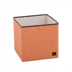 Складной ящик для хранения, оранжевый. Без крышки.