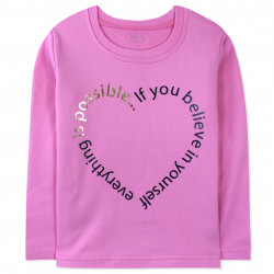 Кофта для девочки, реглан, розовая. Сердце надписями.