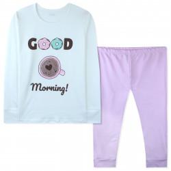 Пижама для девочки, белая. Доброе утро.