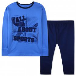 Пижама для мальчика, синяя. Все о спорте.