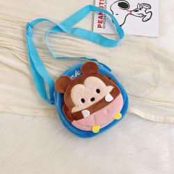 Сумка велюровая детская, сумка через плечо, голубая. Микки Маус.