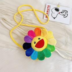 Сумка велюровая детская, сумка через плечо, желтая. Цветик-семицветик