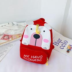 Детский рюкзак, красный. Полярный мишка.