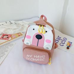 Детский рюкзак, пудровый. Полярный мишка.