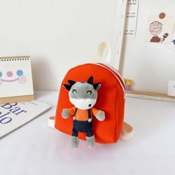 Детский рюкзак, красный. Мистер бычок.