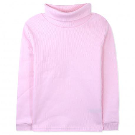 Водолазка для девочки, розовый. С начесом.