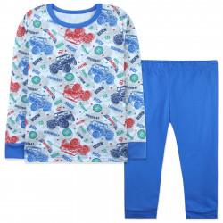 Пижама для мальчика, синяя. Джипы.