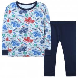 Пижама для мальчика, темно-синяя. Джипы.