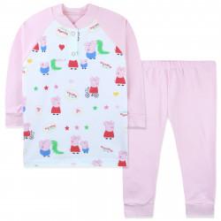 Пижама для девочки, розовая. Свинка Пеппа.