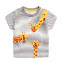Футболка детская, серая. Три жирафа.