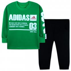 Костюм для мальчика, зеленый. Спортик.