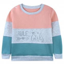 Утепленная кофта для девочки, джемпер, розовая. Rule Girls.